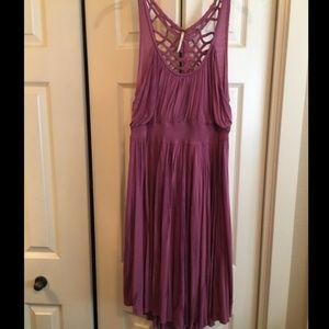 Free people tye dye macrame dress